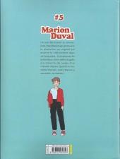 Verso de Marion Duval -INT5- Tome 5