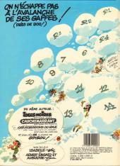 Verso de Gaston -14a1982- La saga des gaffes