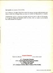 Verso de Vivants témoins -6- Bernadette de Lourdes