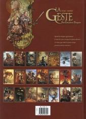 Verso de La geste des Chevaliers Dragons -20- Naissance d'un empire