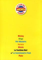 Verso de Les héros de Mickeyville -7- Le Commissaire Finot