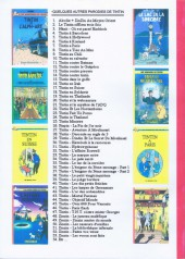 Verso de Tintin - Pastiches, parodies & pirates - Tintin à Barcelone