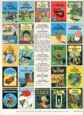Verso de Tintin (Historique) -14C4- Le temple du soleil