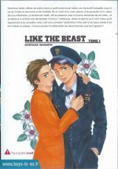 Verso de Like the Beast -1- Tome 1