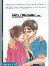 Verso de Like the Beast -2- Tome 2