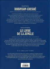 Verso de Les indispensables de la Littérature en BD -FL10- Robinson Crusoé / Le livre de la jungle