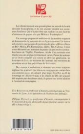 Verso de (DOC) Études et essais divers - Milou, Idéfix et Cie - Le chien en BD