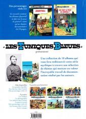 Verso de Les tuniques Bleues présentent -3- Des personnages réels (1)