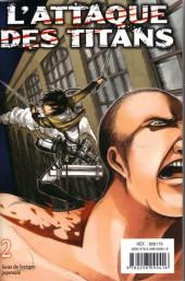 Verso de L'attaque des Titans -INT01- Tomes 1 et 2