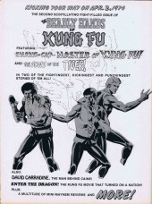 Verso de Deadly Hands of Kung Fu (The) (1974) -1- The Testing of Shang-Chi