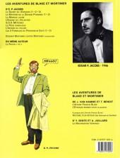 Verso de Blake et Mortimer (Les Aventures de) -3c2000- Le Secret de l'Espadon - Tome 3