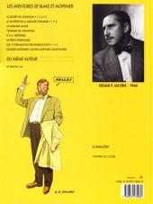 Verso de Blake et Mortimer (Les Aventures de) -4b1993- Le Mystère de la Grande Pyramide - Tome 1