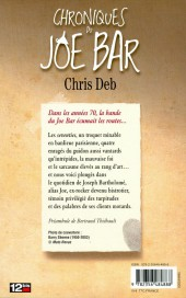 Verso de Joe Bar Team -HS6- Chroniques du Joe Bar
