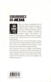 Verso de Joe Bar Team -HS6a- Chroniques du Joe Bar