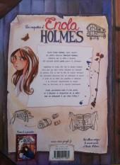 Verso de Les enquêtes d'Enola Holmes -1- La double disparition