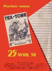 Verso de Tex-Tone -23- La ceinture d'or