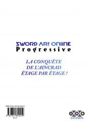 Verso de Sword Art Online - Progressive -2- Tome 2