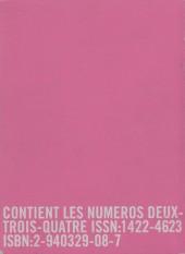 Verso de Bile noire -INT01- Bile noire se recueille: premier volume
