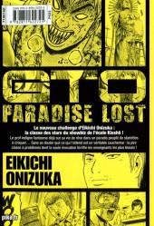 Verso de GTO - Paradise Lost -1- Vol. 1