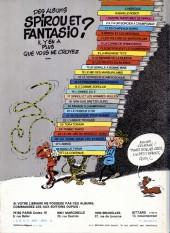 Verso de Spirou et Fantasio -13d82- Le voyageur du mésozoïque