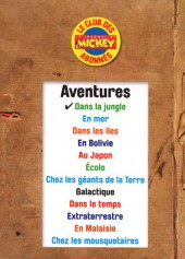 Verso de Les grandes aventures (Disney) -1- Dans la jungle