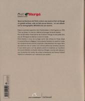 Verso de (AUT) Hergé - L'art d'Hergé