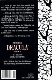 Verso de The tomb of Dracula (1991) -1- Book 1