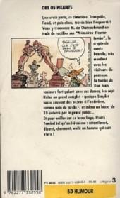Verso de Pierre Tombal -4Poch- Des os pilants