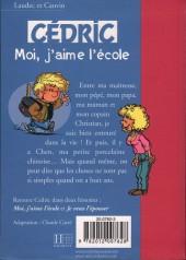 Verso de Cédric (Bibliothèque rose) -11421- Moi, j'aime l'école