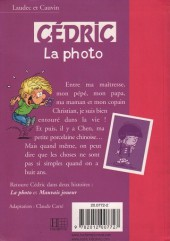 Verso de Cédric (Bibliothèque rose) -51425- La photo