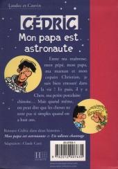 Verso de Cédric (Bibliothèque rose) -21422- Mon papa est astronaute