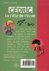 Verso de Cédric (Bibliothèque rose) -31423- La fête de l'école
