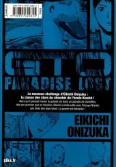 Verso de GTO - Paradise Lost -2- Vol. 2