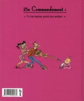 Verso de Les 40 commandements - Les 40 commandements des jeunes parents