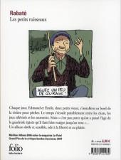 Verso de Les petits ruisseaux - Tome Poche