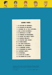 Verso de La patrouille des Castors -1c74- Le mystère de Grosbois