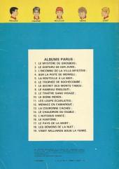 Verso de La patrouille des Castors -7b77- Le secret des Monts Tabou