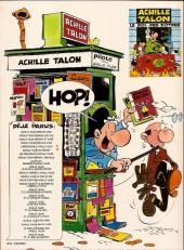 Verso de Achille Talon -11a80- Brave et honnête achille talon