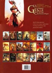 Verso de La geste des Chevaliers Dragons -21- La Faucheuse d'Ishtar