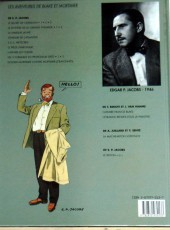 Verso de Blake et Mortimer (Les Aventures de) -7b1998- L'Enigme de l'Atlantide