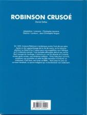 Verso de Les grands Classiques en bande dessinée - Robinson Crusoé
