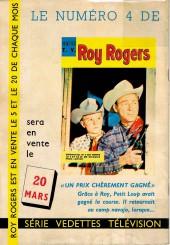 Verso de Roy Rogers, le roi des cow-boys (3e série - vedettes T.V) -3- Question de vie ou de mort