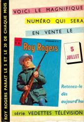 Verso de Roy Rogers, le roi des cow-boys (3e série - vedettes T.V) -10- Numéro 10
