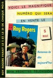 Verso de Roy Rogers, le roi des cow-boys (3e série - vedettes T.V) -6- Numéro 6