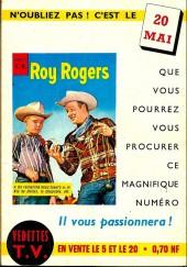 Verso de Roy Rogers, le roi des cow-boys (3e série - vedettes T.V) -7- Numéro 7
