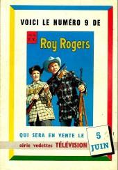 Verso de Roy Rogers, le roi des cow-boys (3e série - vedettes T.V) -8- Numéro 8