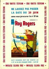 Verso de Roy Rogers, le roi des cow-boys (3e série - vedettes T.V) -9- Numéro 9