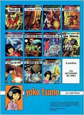 Verso de Yoko Tsuno -8a82- Les titans