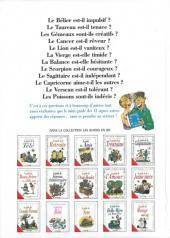 Verso de Le mini-guide -13- Le mini-guide des 12 signes astros