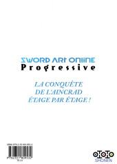 Verso de Sword Art Online - Progressive -3- Tome 3